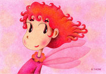 Free Art, Illustrations, Pictures and Images 「Cute angel - Flame angel」