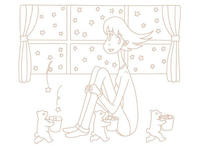 """Original coloring pages 「Comic illustration """"Cute lady"""" - Bear that brilliantly carries star」"""