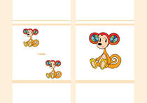 Free book jacket design 「Funky animal cartoon character - Monkey of ear like radar」