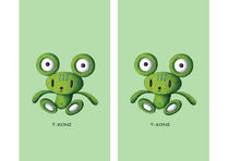 Free book jacket design 「Strange animal cartoon character - Teddy bear like frog」