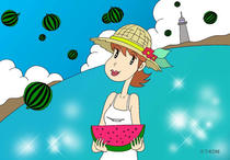 Free Art, Illustrations, Pictures and Images 「Comic illustration - Summer vacation」