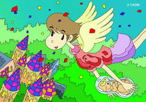 Free Art, Illustrations, Pictures and Images 「Comic illustration - The fairy's work」