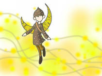 "Wallpaper for PC desktop that uses original illustration 「Fairy illustration - Fairy of the nature ""Moonlight fairy""」"