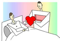 Illustration of medical treatment - 「Organ transplant ・ Donor ・ Patient」