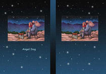 Free book jacket design 「Fairy tale story 「Angel Dog」 - Cold night」