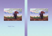 Free book jacket design 「Fairy tale story 「Angel Dog」 - Beautiful morning sun」