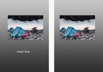 Free book jacket design 「Fairy tale story 「Angel Dog」 - White mountain range」