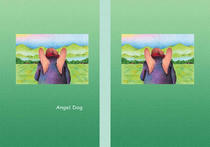 Free book jacket design 「Fairy tale story 「Angel Dog」 - Rural scene」