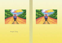 Free book jacket design 「Fairy tale story 「Angel Dog」 - Far, long road」