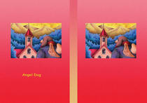 Free book jacket design 「Fairy tale story 「Angel Dog」 - Declining church」