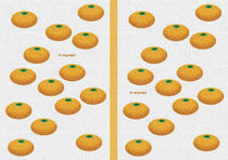 Free book jacket design 「Simple illustration - Mandarin orange 「White」」