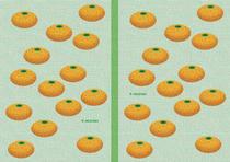 Free book jacket design 「Simple illustration - Mandarin orange 「Green」」