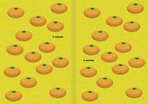 Free book jacket design 「Simple illustration - Mandarin orange 「Yellow」」