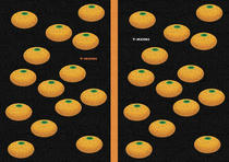 Free book jacket design 「Simple illustration - Mandarin orange 「Black」」