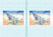 Free book jacket design 「Building illustration (Trick art) - Crevasse city」