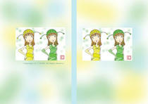 Free book jacket design 「Female illustration (Cute lady) - Twin sisters」