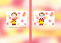 Free book jacket design 「Female illustration (Cute lady) - Day of memories」
