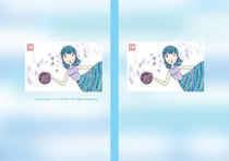 Free book jacket design 「Female illustration (Cute lady) - Nostalgic play」