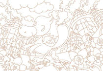 "Original coloring pages 「Comic illustration ""Fairies' villages"" - Duck fairy's roller coaster」"