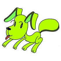 「Strange figure animals cartoon - Funky animal(Dog)」