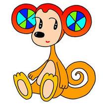 「Strange figure animals cartoon - Funky animal(Monkey)」