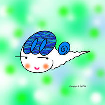Free iPad wallpapers using cartoon character 「Snail character - Cute snail」