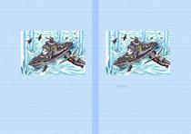 SF Fantasy illustration - Naval battle game