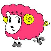 「Strange figure animals cartoon - Funky animal(Sheep)」