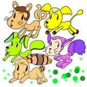 「Strange figure animals cartoon - Funky animal(Funky animals)」