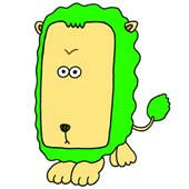 「Pleasant animals cartoon - Big face animal (Lion)」