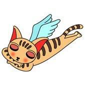 「Lovely cat cartoon - Angel Cat (Sleeping cat)」