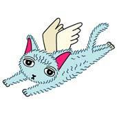 「Lovely cat cartoon - Angel Cat (Persian cat)」