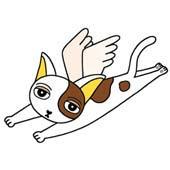 「Lovely cat cartoon - Angel Cat (Tortoiseshell cat)」
