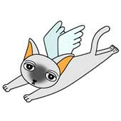 「Lovely cat cartoon - Angel Cat (Siamese cat)」