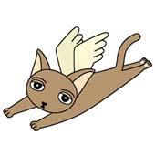 「Lovely cat cartoon - Angel Cat (Brown cat)」