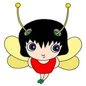 「Lovely insect cartoon - Cute ladybird (Hello)」