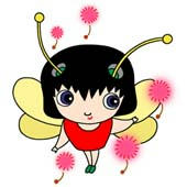 「Lovely insect cartoon - Cute ladybird (Cotton hat)」