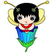 「Lovely insect cartoon - Cute ladybird (Flower inside)」