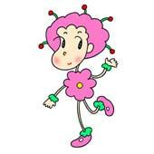 「Lovely flower cartoon - Flower fairy (Fairy of red flower)」