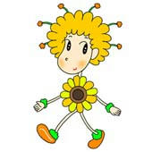 「Lovely flower cartoon - Flower fairy (Fairy of yellow flower)」