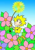 「Lovely flower cartoon - Flower fairy (Flower garden)」
