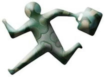 Person who hurries up, Running person, Businessman, Person, Man