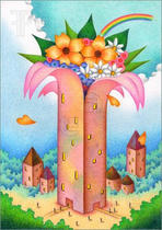 Stock pictures and illustrations 「Flower Tower」