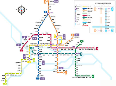 広州 地下鉄 路線 図