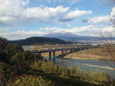 富士川SAからみた富士山