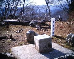 百里ヶ岳三角点