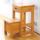 収納できる木製踏み台