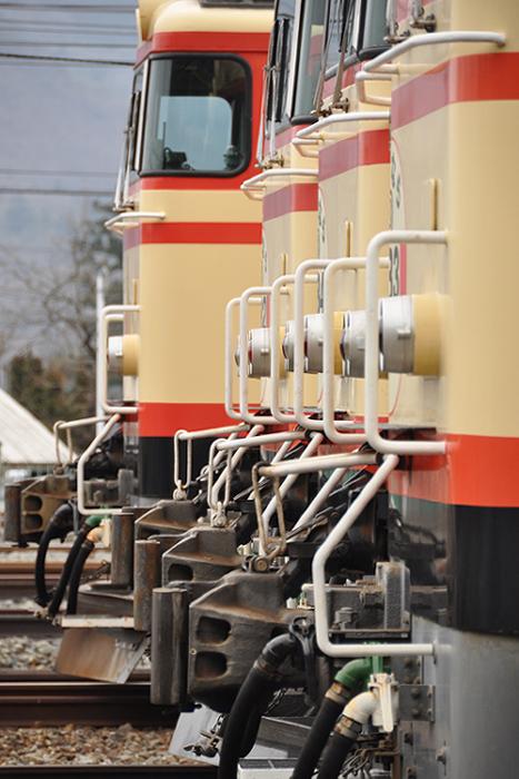 整列する機関車