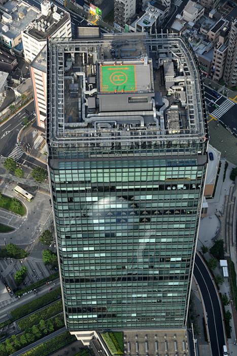 俯瞰のビル