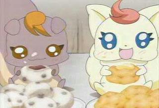 ココはシュークリーム、ナッツは豆大福